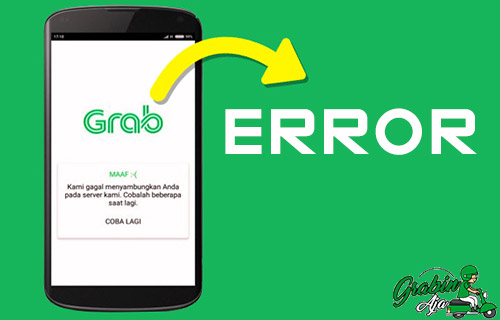 Aplikasi Grab Error
