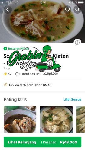 Cara Menggunakan Aplikasi Grab Food