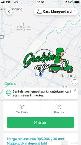 Cara Menggunakan Aplikasi Grab Wheels eScooter