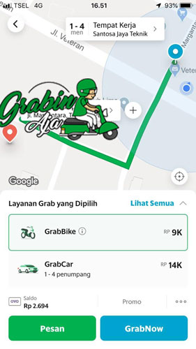 Cara Menggunakan Aplikasi GrabBike