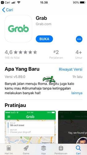 1. Buka aplikasi Grab di HP Android ataupun iPhone kamu