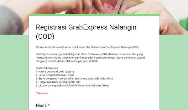 Cara Aktivasi GrabExpress Nalangin