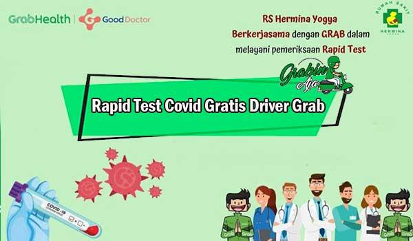Rapid Test Covid Gratis Driver Grab