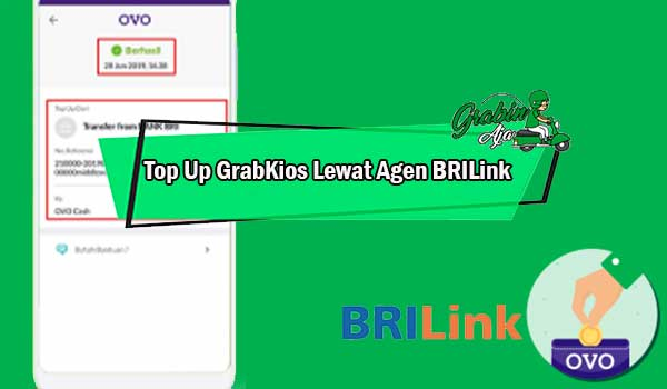 Top Up GrabKios Lewat Agen BRILink