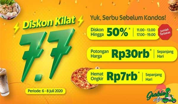 Diskon Kilat 7.7 GrabFood