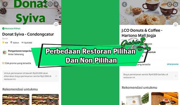 Perbedaan Restoran Pilihan Dan Non Pilihan