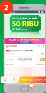 Top Up Grab Driver di Lazada