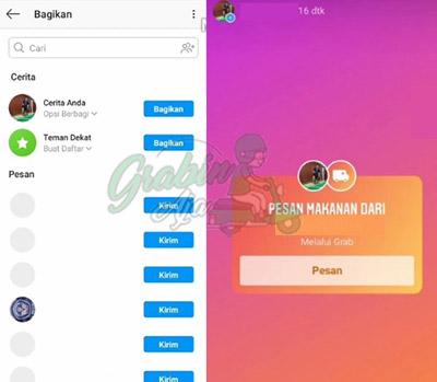 cara membuat tombol di instagram