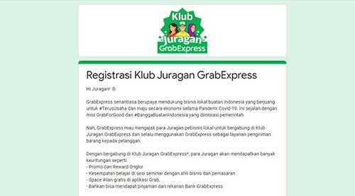 Daftar Klub Juragan GrabExpress Online