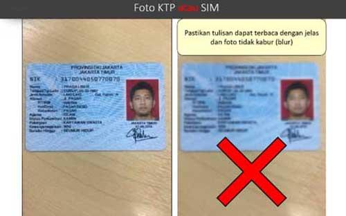 Syarat Dokumen dan Foto KTP atau SIM