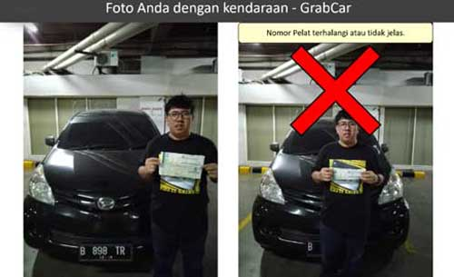 Syarat Foto Driver dan Kendaraan