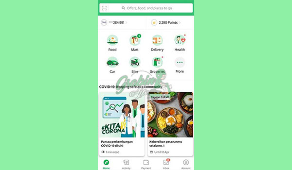 1 Buka Aplikasi Grab 5
