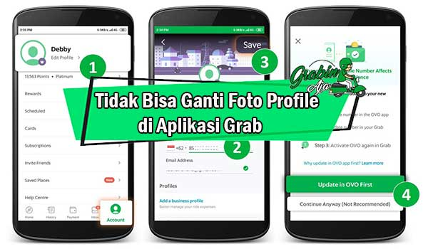 Tidak Bisa Ganti Foto Profile di Aplikasi Grab