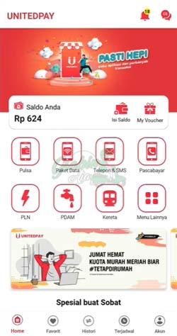 1 Buka Aplikasi Unitedpay