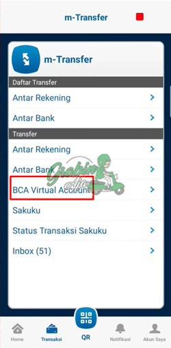 4 Klik Menu BCA Virtual Account