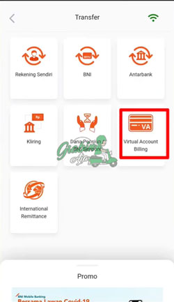 4 Pilih Menu Virtual Account Billing