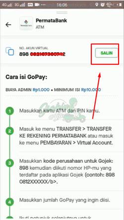 5 Salin Nomor Virtual Account