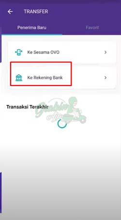 8 Pilih Ke Rekening Bank