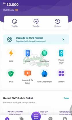 2 Klik Menu Upgrade OVO Premier
