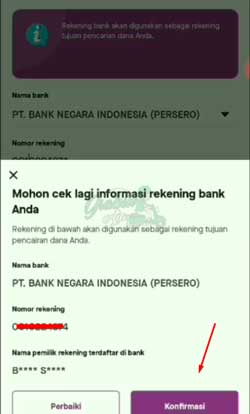 7 Informasi Rekening Bank