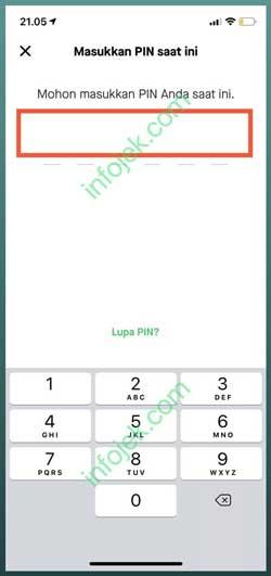 Masukkan Nomor PIN Lama