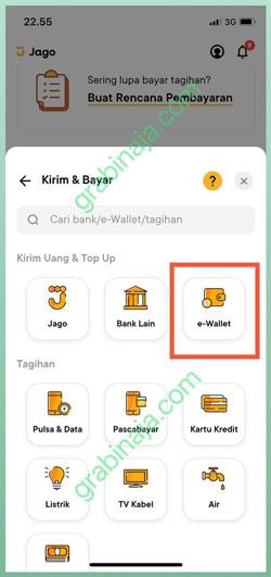 Pilih Menu E Wallet