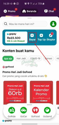 Buka Aplikasi Gopay