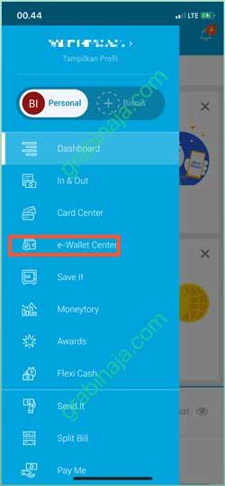 Pilih E Wallet Center