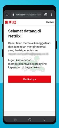 Bayar Netflix Pakai Gopay Berhasil