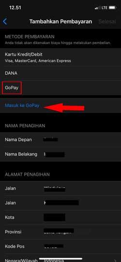 Pilih Gopay