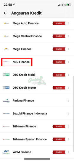 Pilih NSC Finance