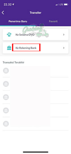 Pilih Rekening Bank