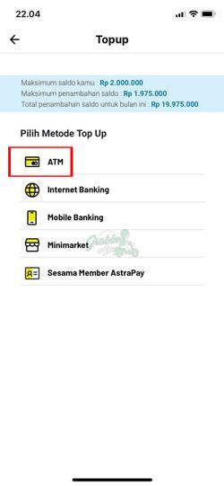 Pilih Transfer ATM