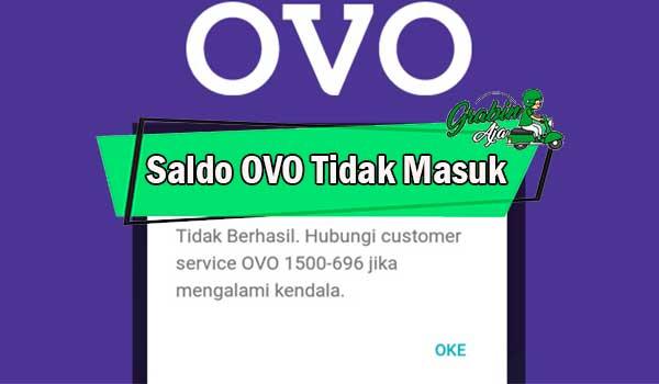 Saldo OVO Tidak Masuk