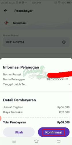 Cek Data Pembayaran