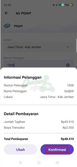 Cek Detail Pembayaran