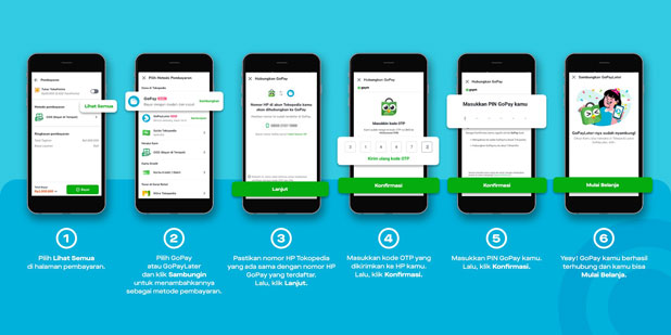 Menghubungkan Gopay ke Tokopedia di Halaman Metode Pembayaran
