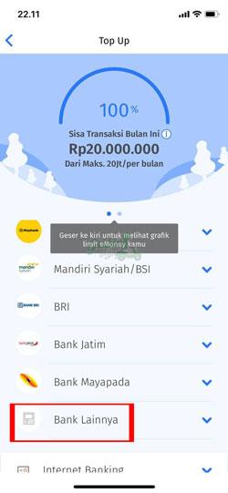 Pilih Bank Lainnya