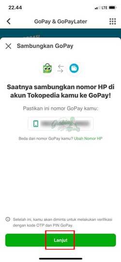 Sambungkan Gopay